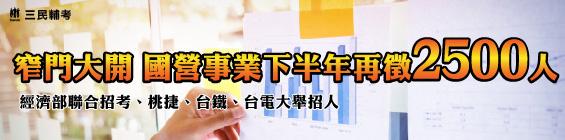 107年經濟部聯合招考暫定開缺867名 起薪高達3.8萬